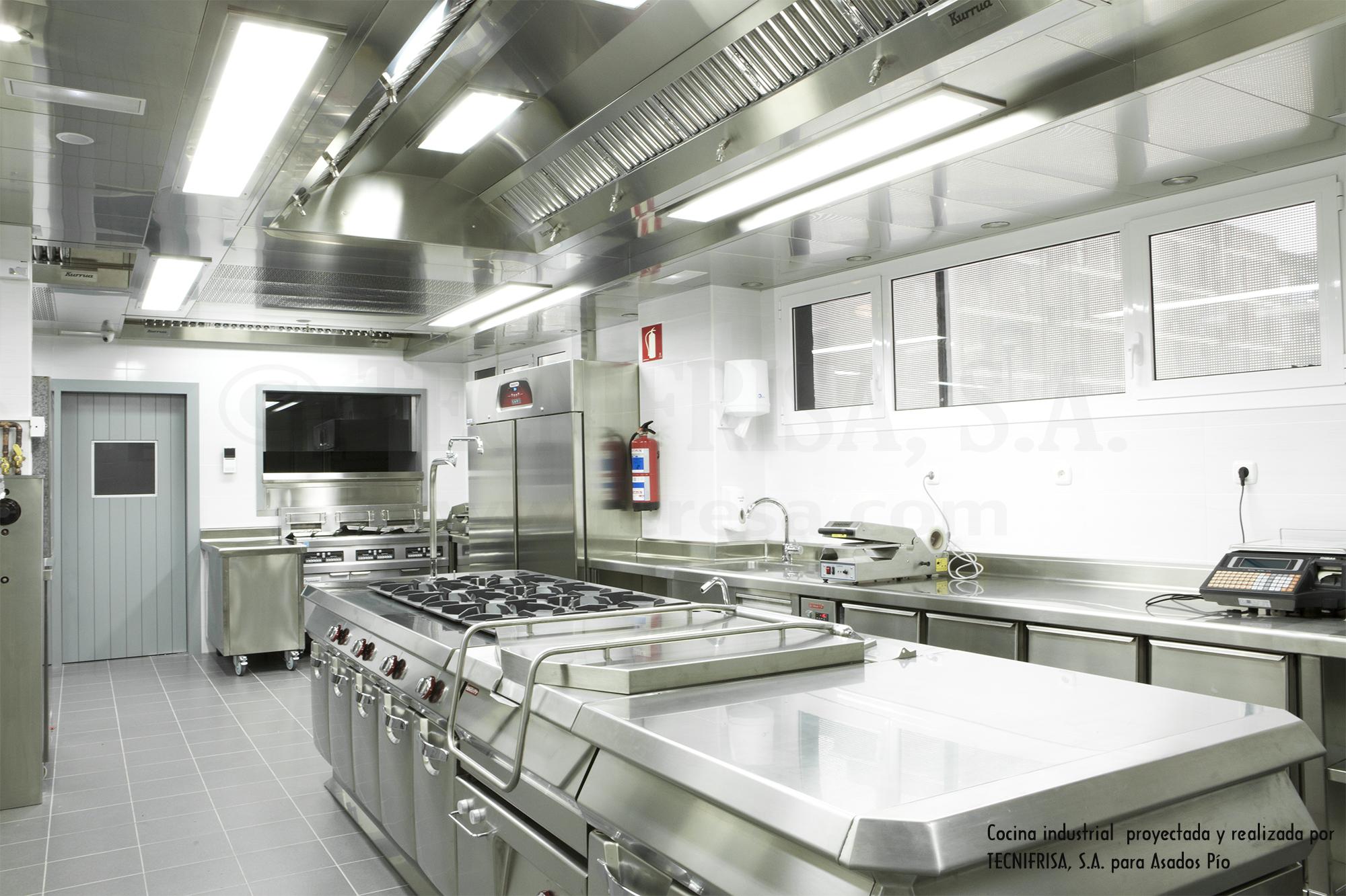 Tecnifrisa maquinaria de hosteler a y fr o indsutrial for Instalacion cocina industrial