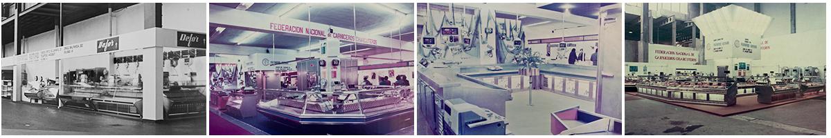 Varias muestras de instalaciones de maquinaria de alimentación